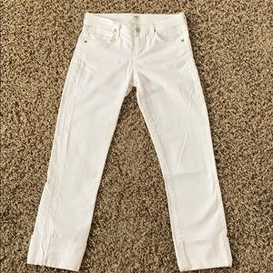 Citizens of Humanity Cropped White Jeans